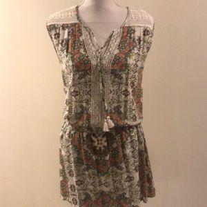 Love stitch floral crochet mini dress/tunic small